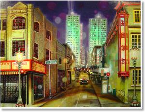 Medium chinatown 42x48