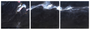 Medium black and white triptych