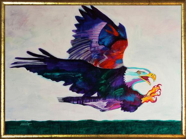 Large eagle medicine framed