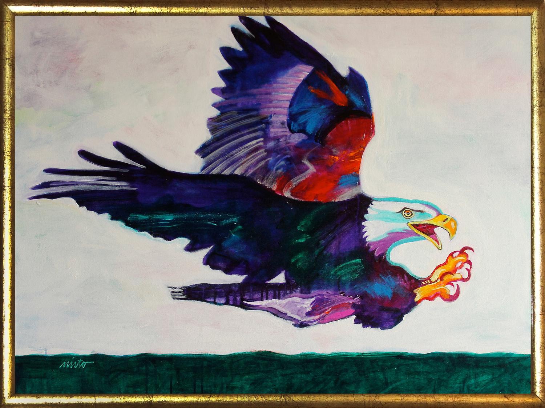 Xlarge eagle medicine framed