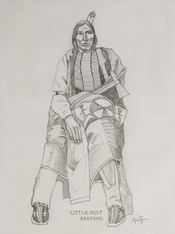 Large little wolf arapaho pencil
