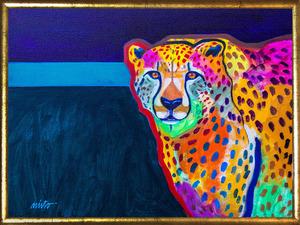 Medium cheetah medicine framed