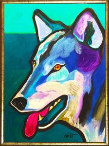 Medium wolf medicine framed
