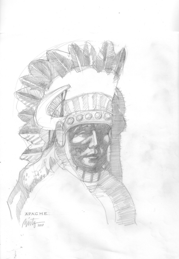 Large apache pencil