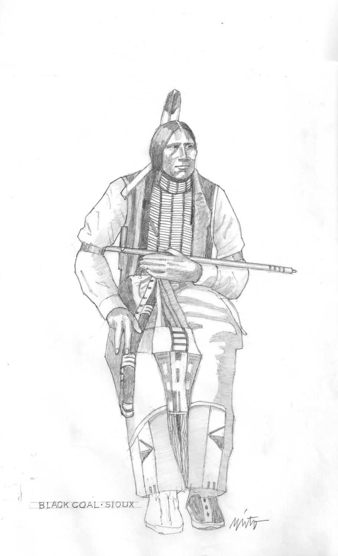 Xlarge black coal sioux  pencil