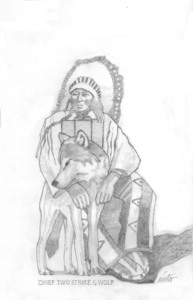 Medium chief two strokes   wolf pencil