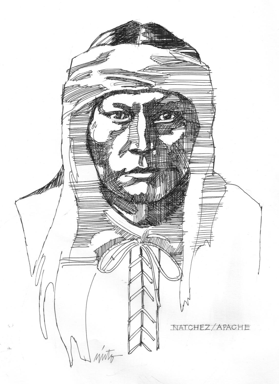 Xlarge natchez apache  ink