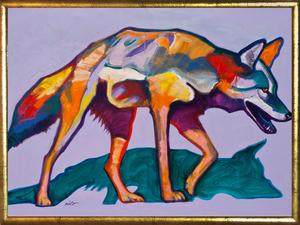 Medium coyote framed