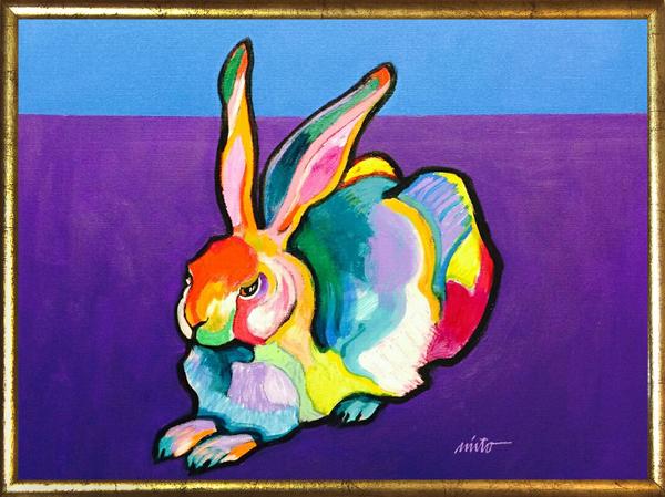 Large rabbit framed
