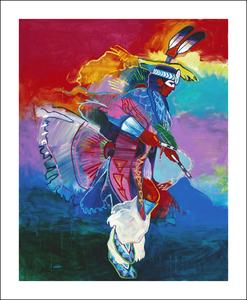 Medium feather dancer 62x50 copy