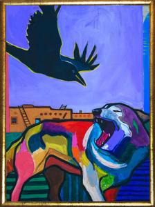 Medium raven tag framed