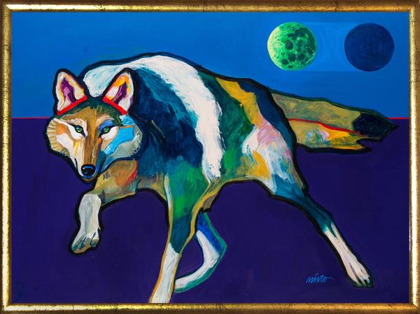 Large alpha wolf