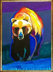 Medium grizzlybear framed