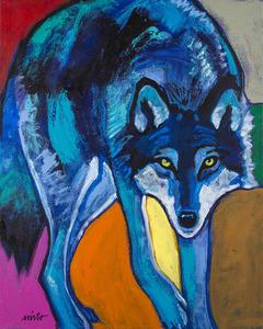 Medium blue wolf 003