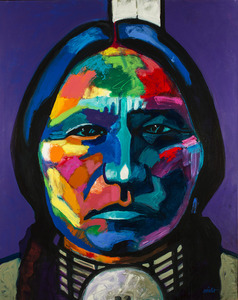 Medium sitting bull redux 009